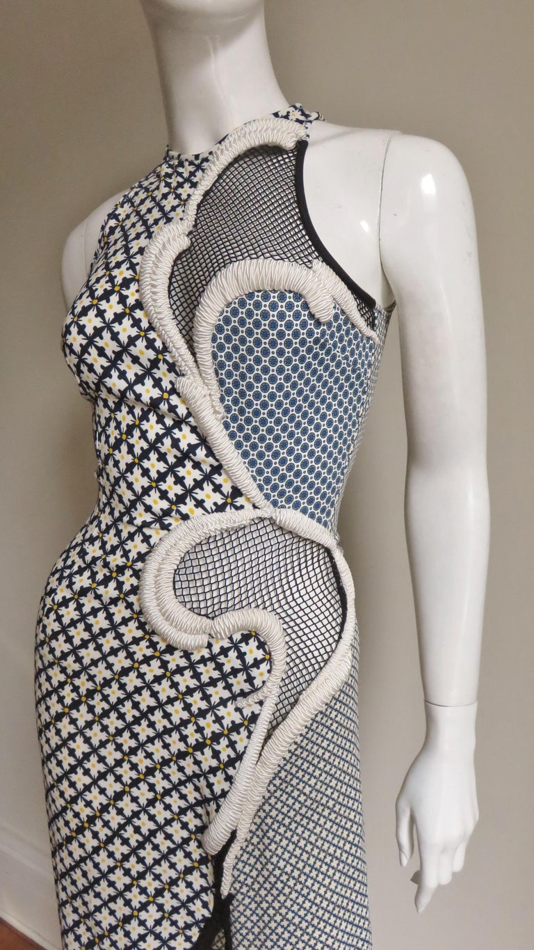 Stella McCartney New Mixed Pattern Cut out Dress For Sale 1