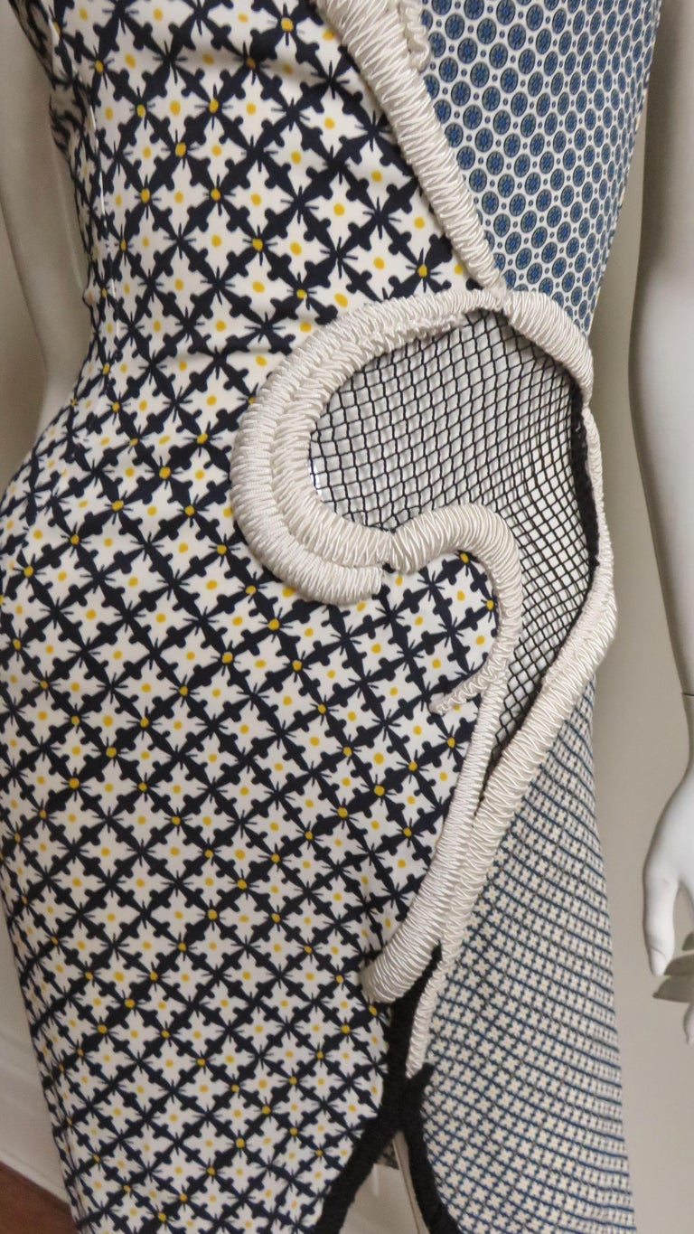 Stella McCartney New Mixed Pattern Cut out Dress For Sale 3
