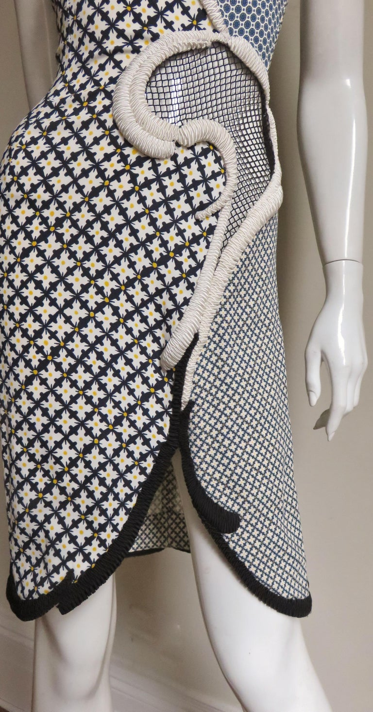 Stella McCartney New Mixed Pattern Cut out Dress For Sale 4