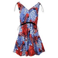 Stella McCartney Multi-Color Pattern V-Neck Pattern Sleeveless Dress sz IT42