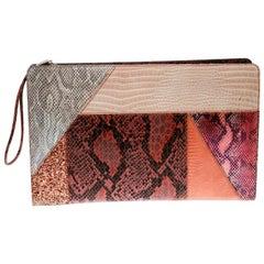 Stella McCartney Multicolor  Leather and Glitter Oversized Waverley Clutch