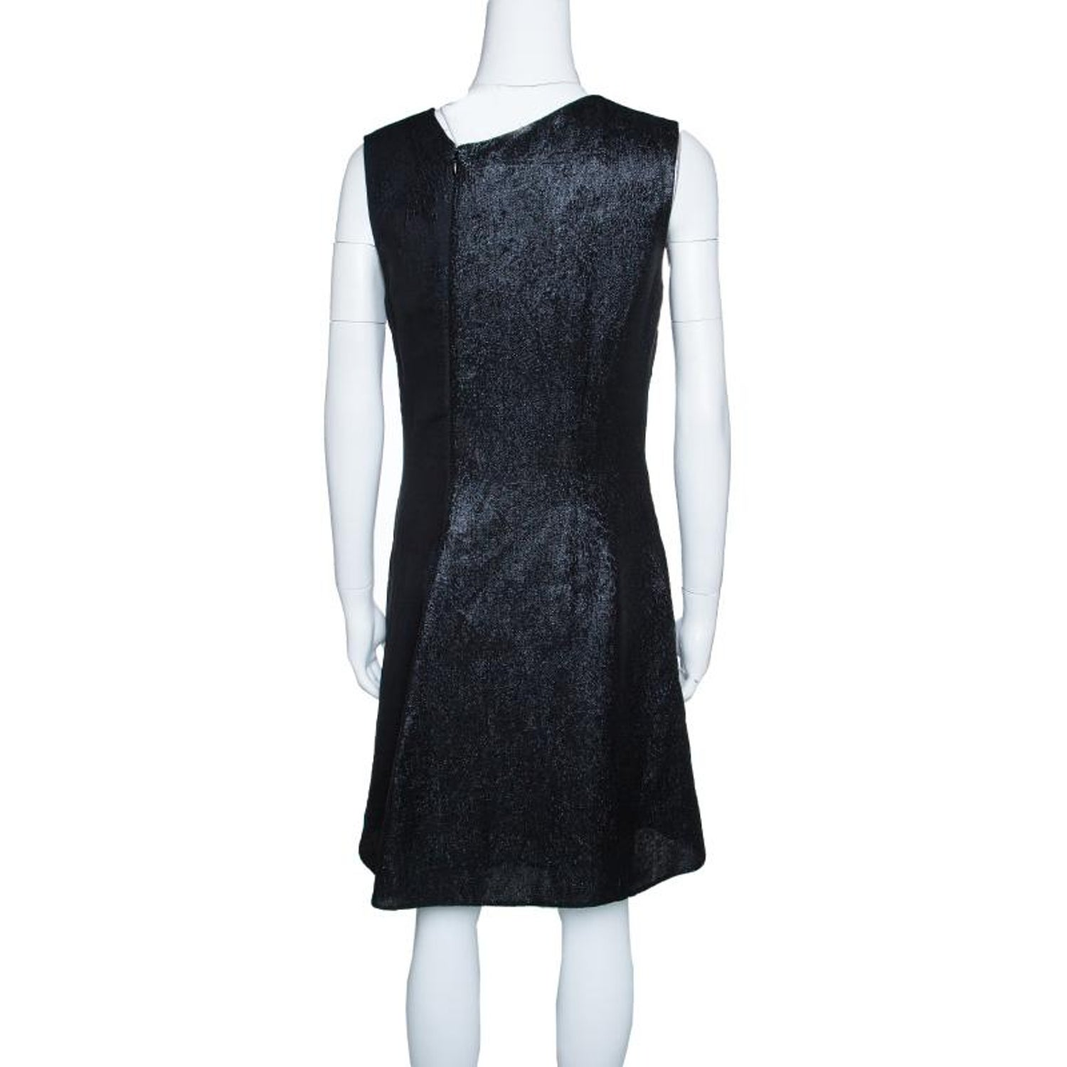 43476a62e06 Stella McCartney Navy Blue Cloque and Metallic Jacquard Sleeveless Anita  Dress M For Sale at 1stdibs