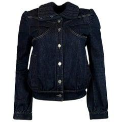 Stella McCartney Navy Blue Denim Jacket sz 40