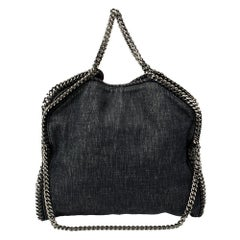 Stella McCartney Navy Blue Denim Small Falabella Tote