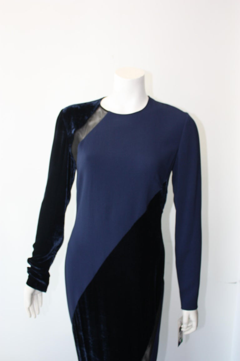 Stella McCartney Navy  Gown In New Condition For Sale In Los Angeles, CA