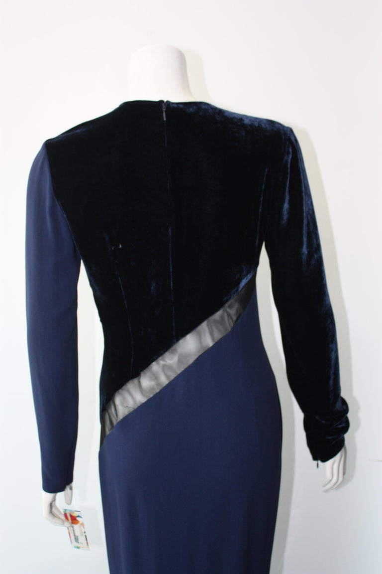 Stella McCartney Navy  Gown For Sale 2