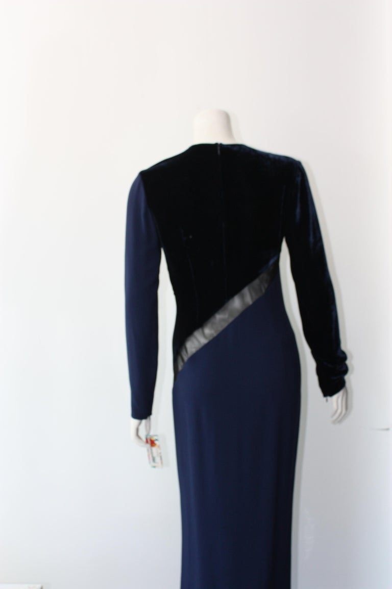 Stella McCartney Navy  Gown For Sale 3