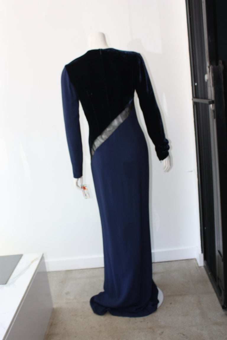 Stella McCartney Navy  Gown For Sale 4