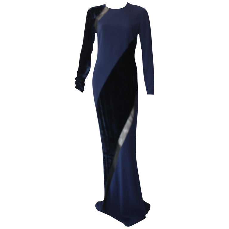 Stella McCartney Navy  Gown For Sale