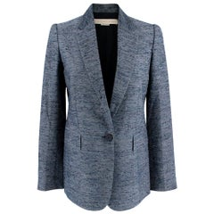 Stella McCartney Navy Textured Blazer - Size US 0-2
