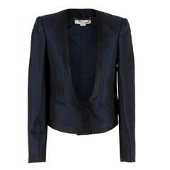 Stella McCartney Navy Wool blend Crop Blazer SIZE 36 IT