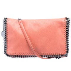 Stella McCartney Peach Faux Leather Falabella Shoulder Bag