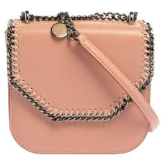 Stella McCartney Pink Faux Leather Mini Falabella Box Shoulder Bag