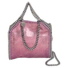 Stella McCartney Purple Faux Leather Tiny Falabella Shoulder Bag