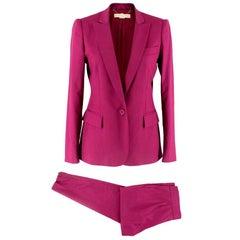 Stella McCartney Purple Wool Suit S 38