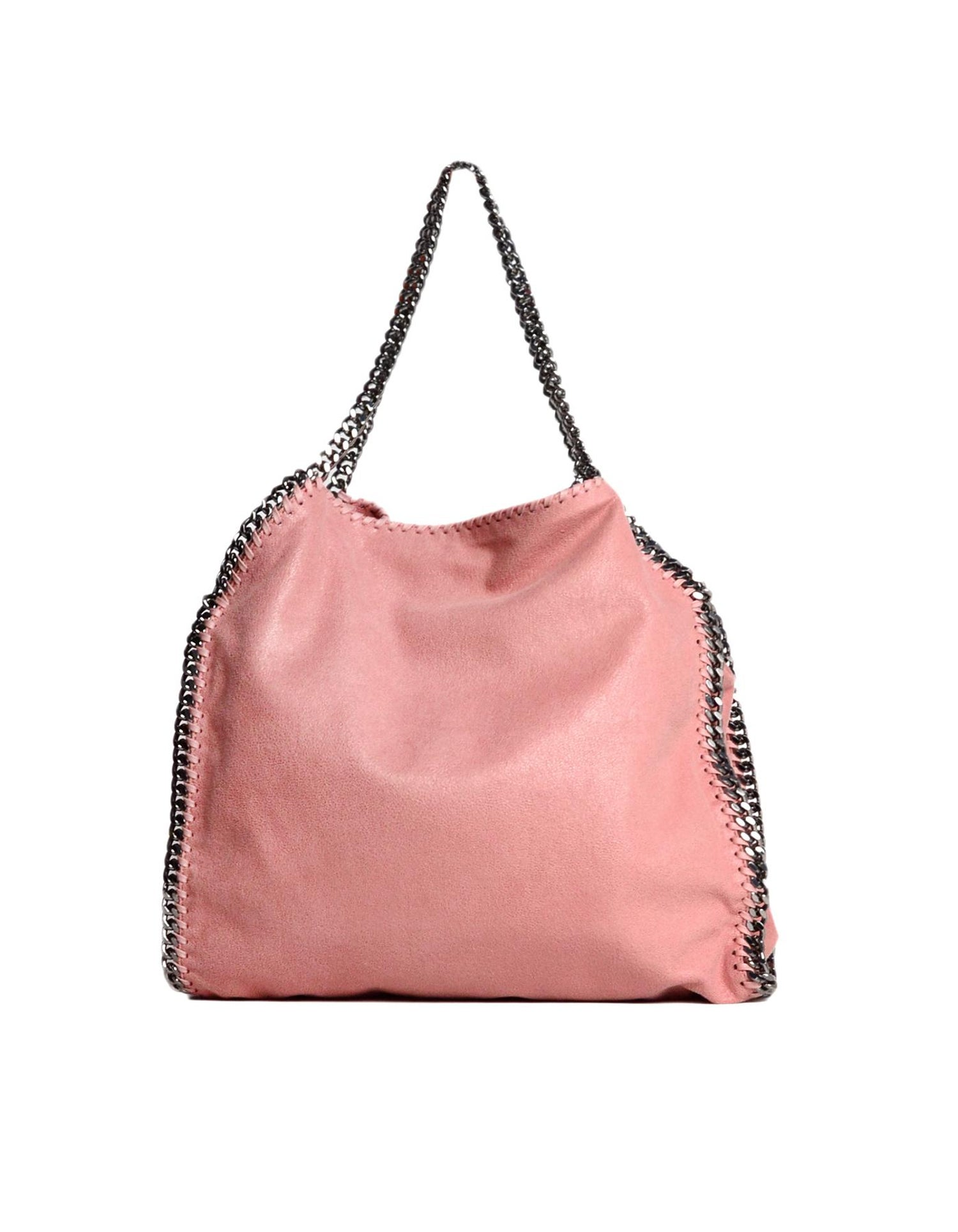 5112f4da700b Stella McCartney Rose Pink Vegan Sueded Leather Small Falabella Shaggy Deer  Tote For Sale at 1stdibs