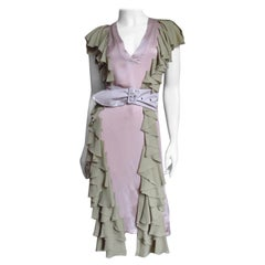 Stella McCartney Silk Color Block Dress