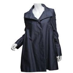 Stella McCartney size 42 Blue Babydoll Trench Coat