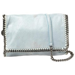 Stella McCartney Sky Blue Faux Leather Falabella Shoulder Bag