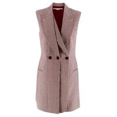 Stella McCartney Sleeveless houndstooth Belted Jacket - Size US 4