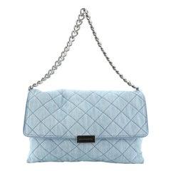 Stella McCartney Soft Beckett Shoulder Bag Quilted Denim Large