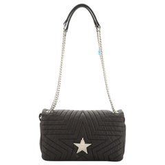 Stella McCartney Star Flap Crossbody Bag Quilted Nylon Small
