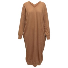 Stella McCartney Tan Wool-Blend Sweater Dress