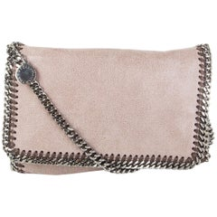 STELLA MCCARTNEY taupe Shaggy Deer Falabella Crossbody Shoulder Bag