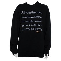 Stella McCartney The Beatles Black Cotton All Now Embroidered Sweatshirt M