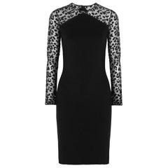 Stella McCartney Tulle Paneled Stretch Jersey Dress