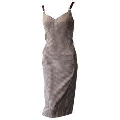 Stella McCartney Tweed Houndstooth Dress