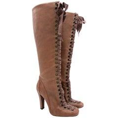 Stella McCartney Vegan Leather Lace up Boots - EU 36