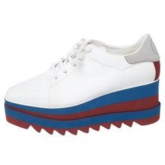 Stella McCartney White Faux Leather Elyse Platform Derby Size 41