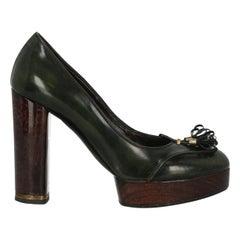 Stella Mccartney Woman Pumps Green Faux Leather IT 38