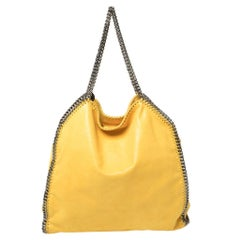 Stella McCartney Yellow Faux Suede Large Falabella Tote