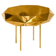 Stella Medium Coffee Table Gold by Nika Zupanc