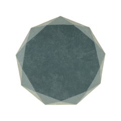 Stella Medium Diamond Mint Green and Gray Rug by Nika Zupanc
