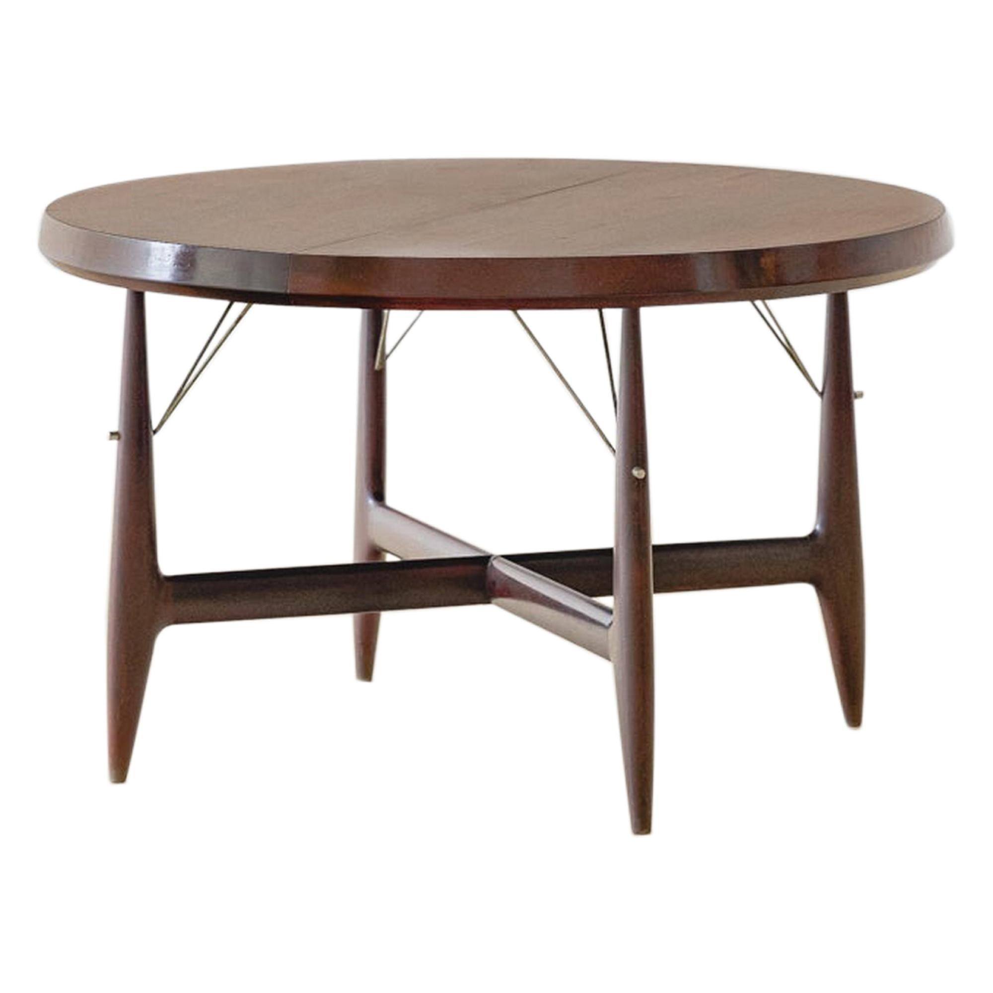 Stella Round Expandable Table by Sergio Rodrigues, Brazilian Midcentury Design