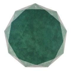 Scharlachroter Pracht mittlere Stella Teppich in Smaragd von Nika Zupanc