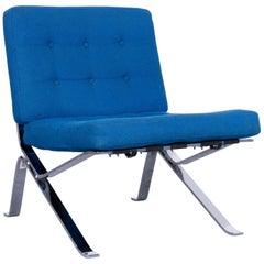 Stella Schweiz Walter Frey Designer Chair Fabric Blue One Seat Modern