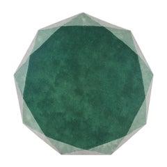 Stella Small Diamond Green Rug by Nika Zupanc