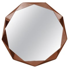 Stella Small Wall Console Mirror Rose Gold by Nika Zupanc