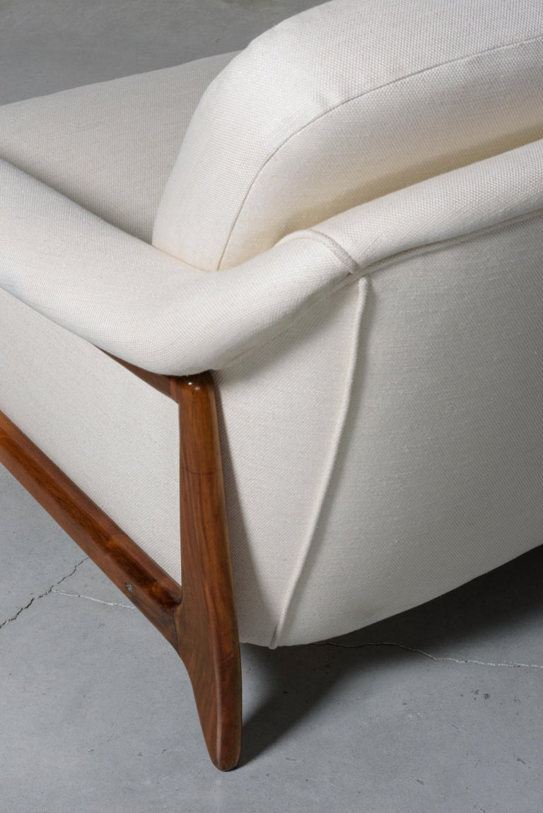 Fabric Stella Sofa by Sergio Rodrigues For Sale