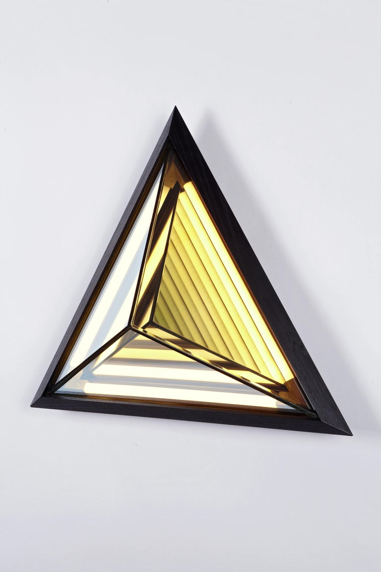 Modern Stella Triangle Sconce in Black by Rosie Li for Roll & Hill For Sale