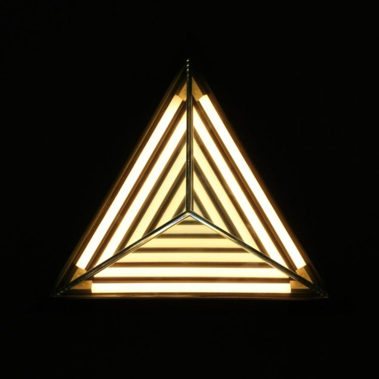 American Stella Triangle Sconce in Black by Rosie Li for Roll & Hill For Sale