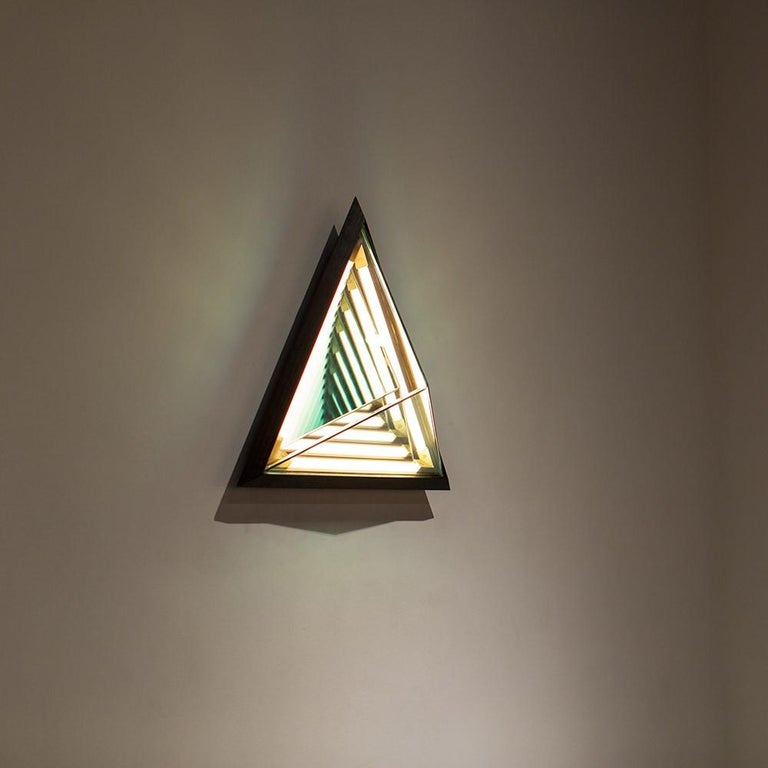Stella Triangle Sconce in Black by Rosie Li for Roll & Hill In New Condition For Sale In Los Angeles, CA