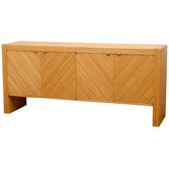 Stellar Bamboo Buffet or Credenza in the Style of Milo Baughman