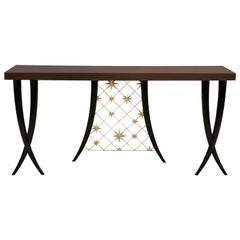 Stellar Console Table with Solid Mahogany