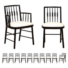 Stellar Set of 12 Modern Windsor Chairs by Michael Taylor, circa 1960
