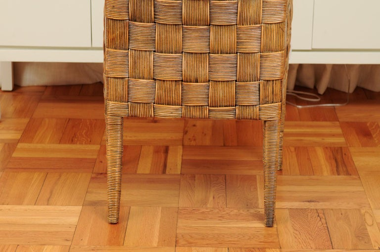 Stellar Set of 8 Block Island Arm Dining Chairs by John Hutton for Donghia For Sale 7